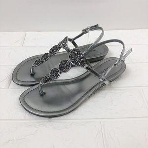 Marc Fisher Gellt Metallic Thong Sandals